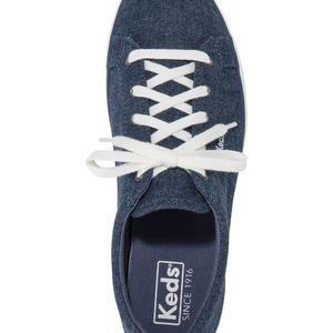 Keds Shoes - Keds Blue Maven Lace-Up Fashion Sneakers